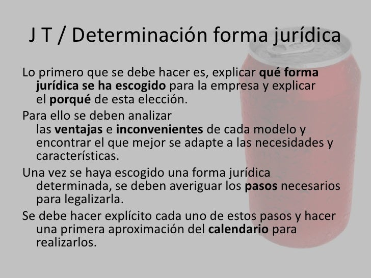 JURÍDICO TRIBUTARIO<br />Una vez se haya elegido la forma jurídica, se deberá averiguar lostrámitesnecesarios para la pu...