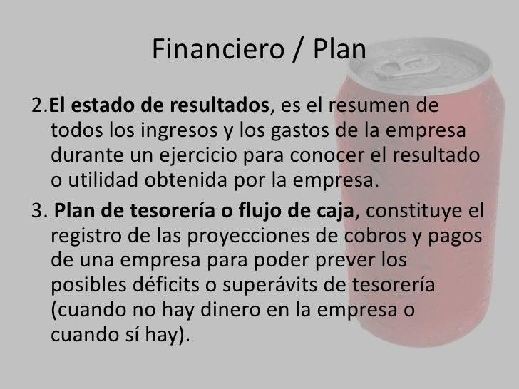 FINANCIERO<br />Esta es la parte más importante, aquí se evaluará la viabilidad financiera del proyecto. Aquí secuantific...