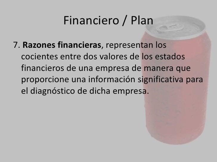 Plan<br />2.El estado de resultados, es el resumen de todos los ingresos y los gastos de la empresa durante un ejercicio p...