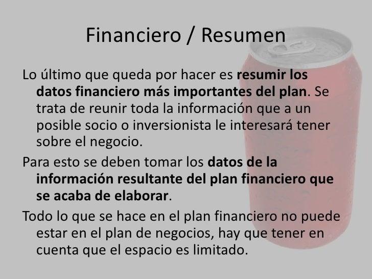 Plan<br />7. Razones financieras, representan los cocientes entre dos valores de los estados financieros de una empresa de...
