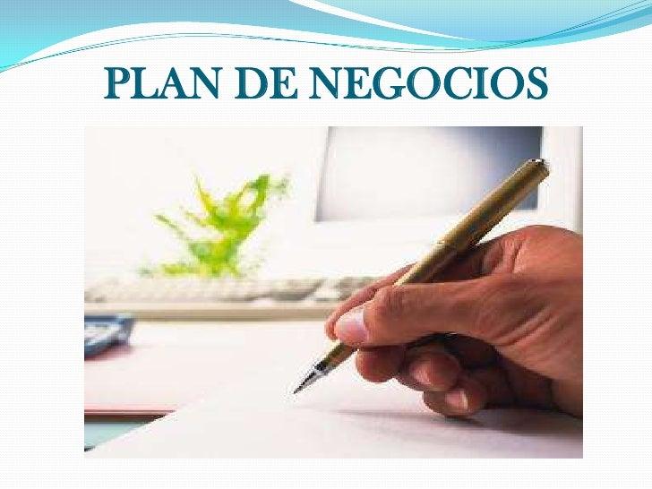 PLAN DE NEGOCIOS<br />