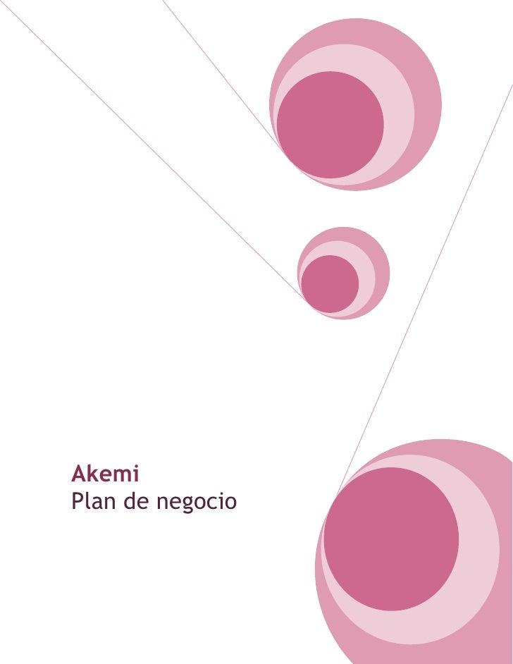 AkemiPlan de negocio