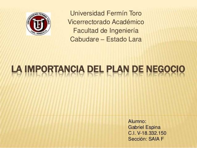 Universidad Fermín Toro           Vicerrectorado Académico             Facultad de Ingeniería            Cabudare – Estado...