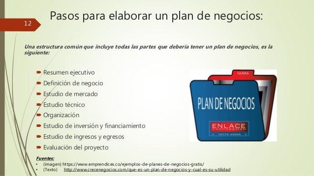 Plan de negocios for Pasos para elaborar un vivero