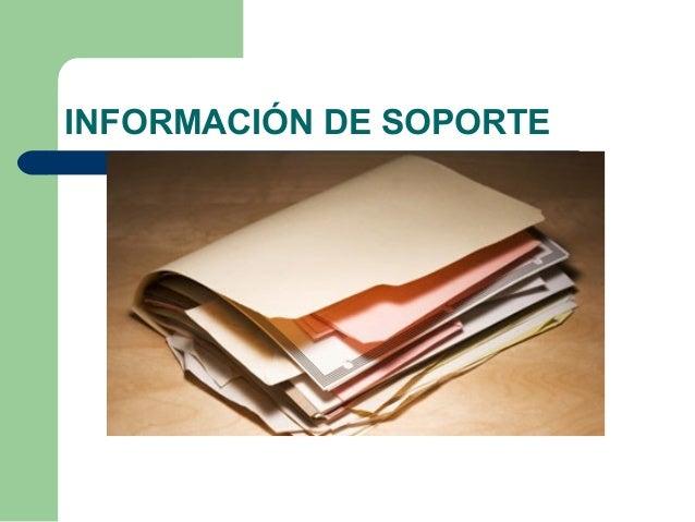 INFORMACIÓN DE SOPORTE