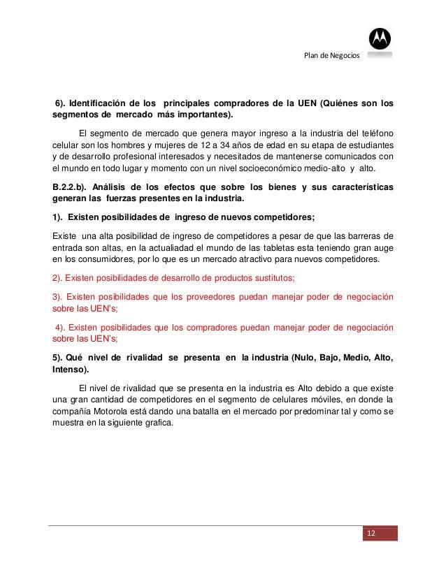 Plan de Negocios 6). Identificación de los principales compradores de la UEN (Quiénes son lossegmentos de mercado más impo...