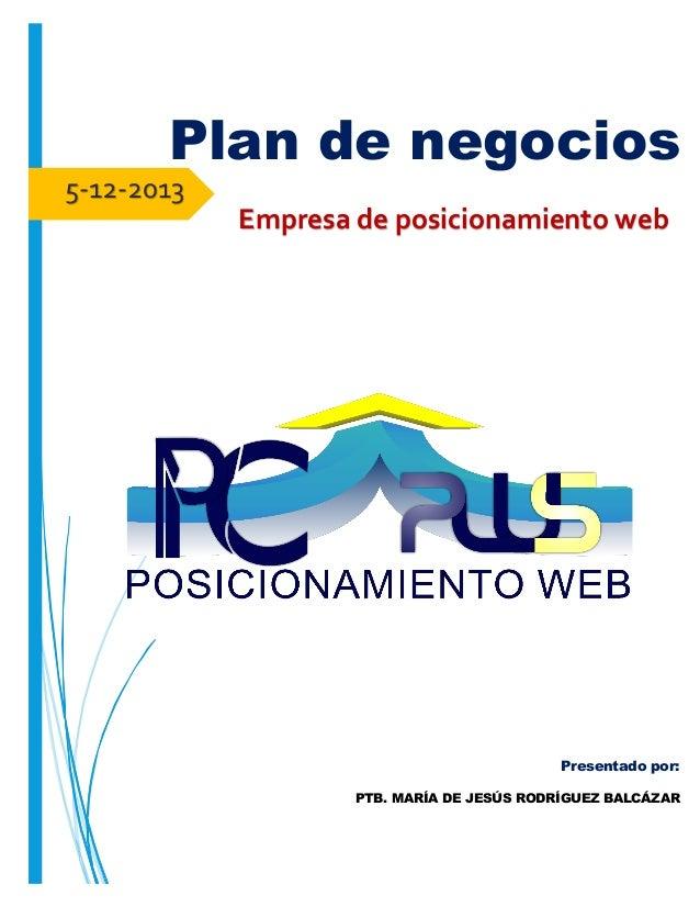 Plan de negocios para empresa de servicios informaticos \