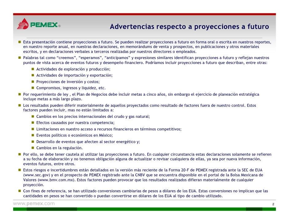 Pemex. Plan de Negocios 2010-2014 Slide 2