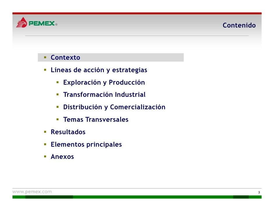 Pemex. Plan de Negocios 2010-2014 Slide 3