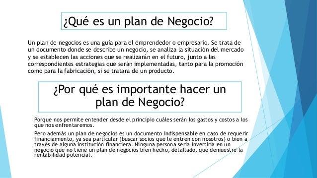 Plan de Negocio Slide 2