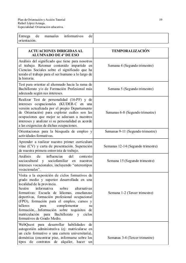 Plan de orientaci n y acci n tutorial modelo andaluc a for Accion educativa en el exterior