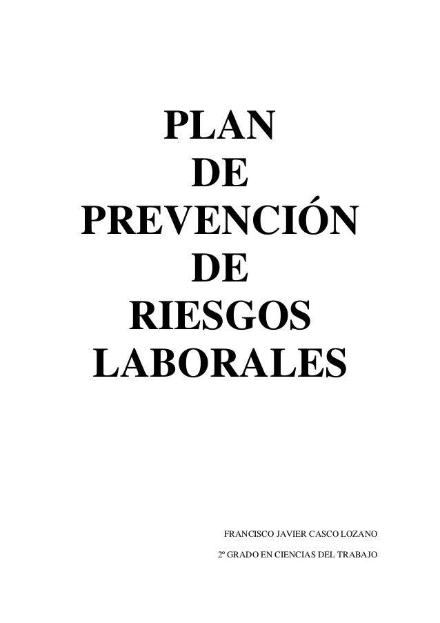 Plan de prevencion de riesgos laborales for Plan de prevencion de riesgos laborales oficina
