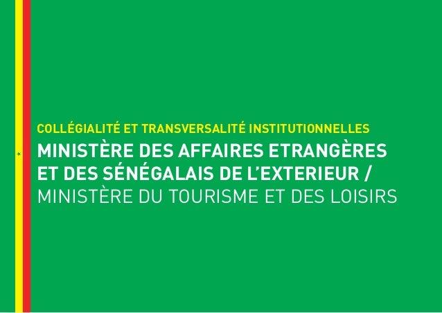 plan de relance ministere en charge du tourisme