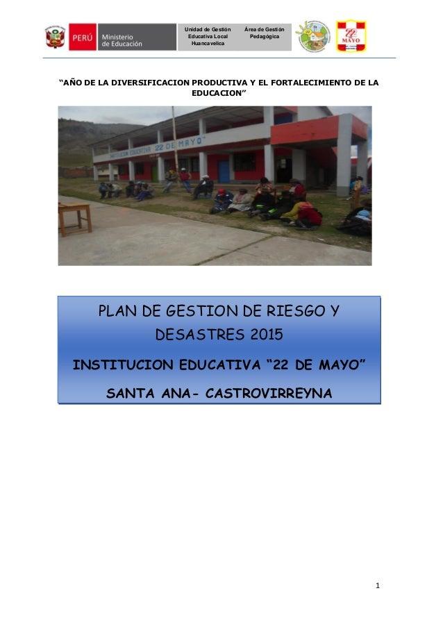 """1 Unidad de Gestión Educativa Local Huancavelica Área de Gestión Pedagógica """"AÑO DE LA DIVERSIFICACION PRODUCTIVA Y EL FOR..."""