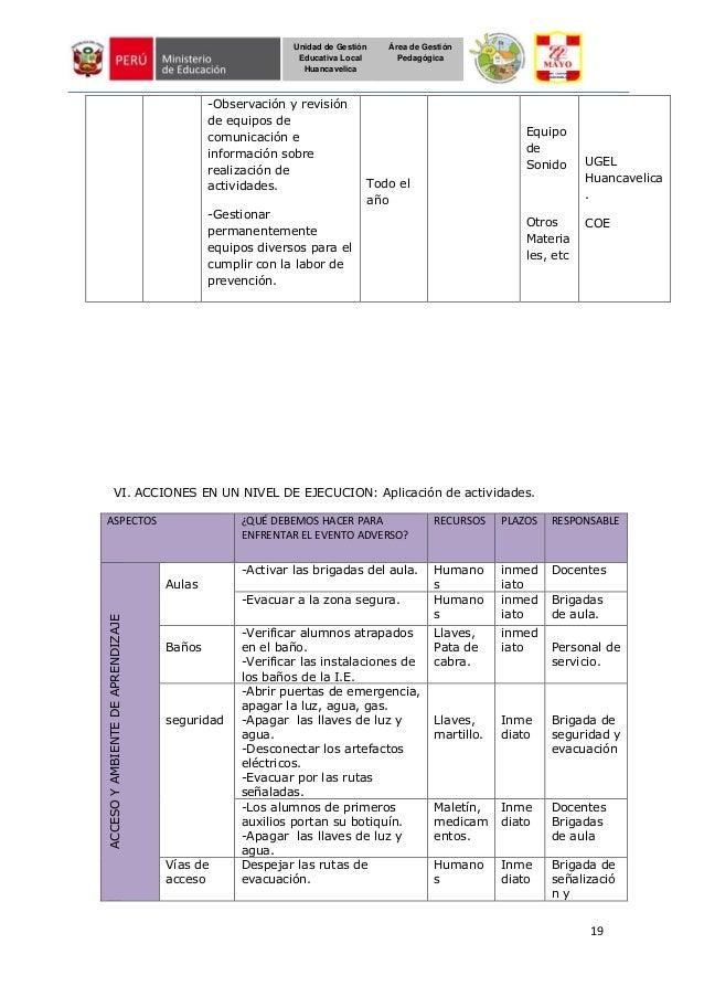 19 Unidad de Gestión Educativa Local Huancavelica Área de Gestión Pedagógica -Observación y revisión de equipos de comunic...