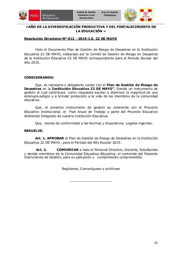 25 Unidad de Gestión Educativa Local Huancavelica Área de Gestión Pedagógica «AÑO DE LA DIVERSIFICACIÓN PRODUCTIVA Y DEL F...