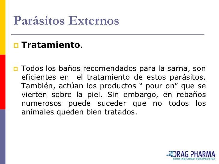 Cuadro 5 Envío de muestras a laboratorio para la evaluación de las parasitosis internas y diagnóstico de la sarna.    Para...