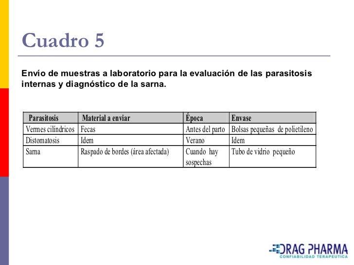 PROGRAMA DE CONTROL INTEGRAL DE PARASITOS EN OVINOS    Faciolicidas          Tabermic                          MR       ...