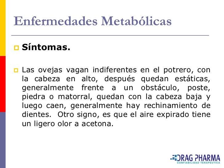 Enfermedades Metabólicas    Lesiones post morten.     Solo se aprecia una leve degeneración grasa del     hígado. Las cá...