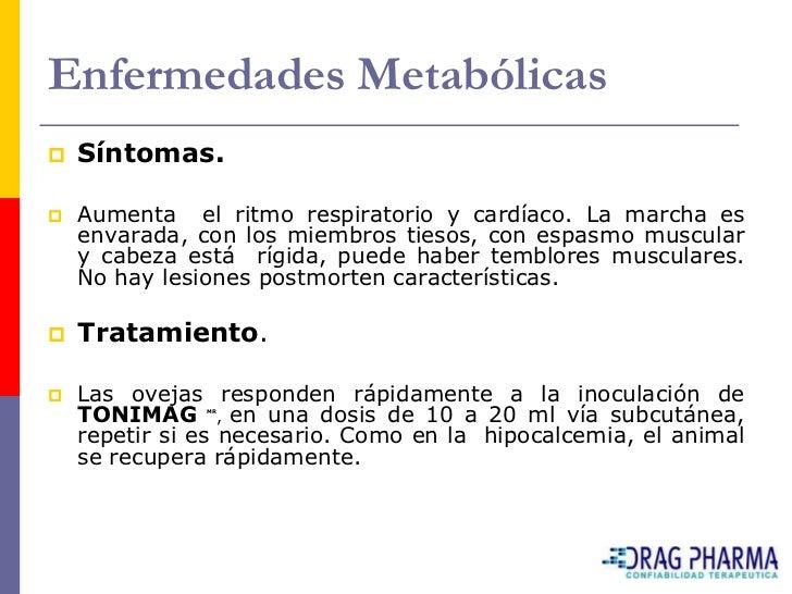 Enfermedades Metabólicas    Diagnostico diferencial.     El Cuadro 6, indica las principales diferencias     entre las t...
