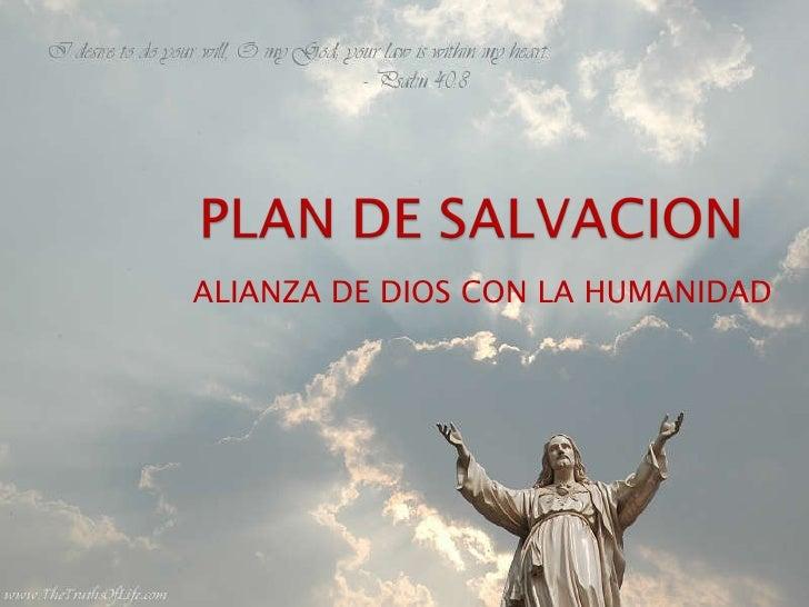 ALIANZA   DE DIOS CON LA HUMANIDAD