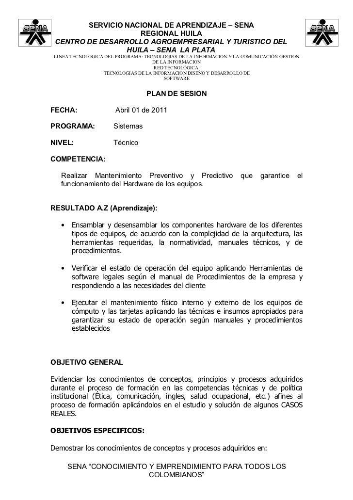 SERVICIO NACIONAL DE APRENDIZAJE – SENA                    REGIONAL HUILA CENTRO DE DESARROLLO AGROEMPRESARIAL Y TURISTICO...