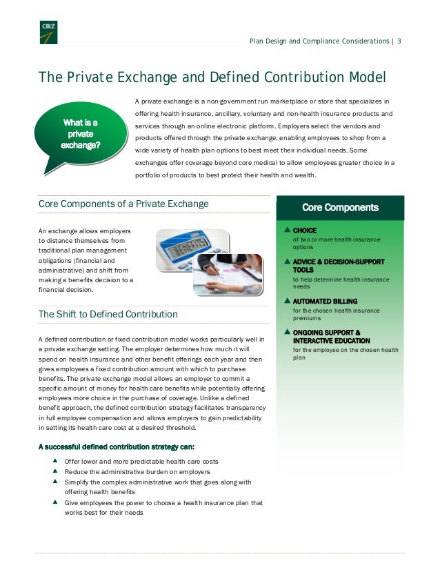 Should you consider a defined contribution model - Minimum essential coverage plan design ...