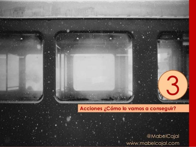 @MabelCajal www.mabelcajal.com Acciones ¿Cómo lo vamos a conseguir? 3