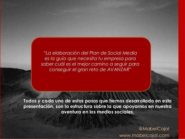 """@MabelCajal www.mabelcajal.com """"La elaboración del Plan de Social Media es la guía que necesita tu empresa para saber cuál..."""