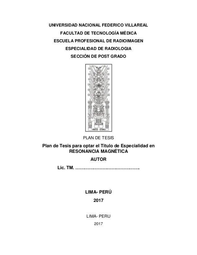 Modelo de Plan de tesis. UNFV