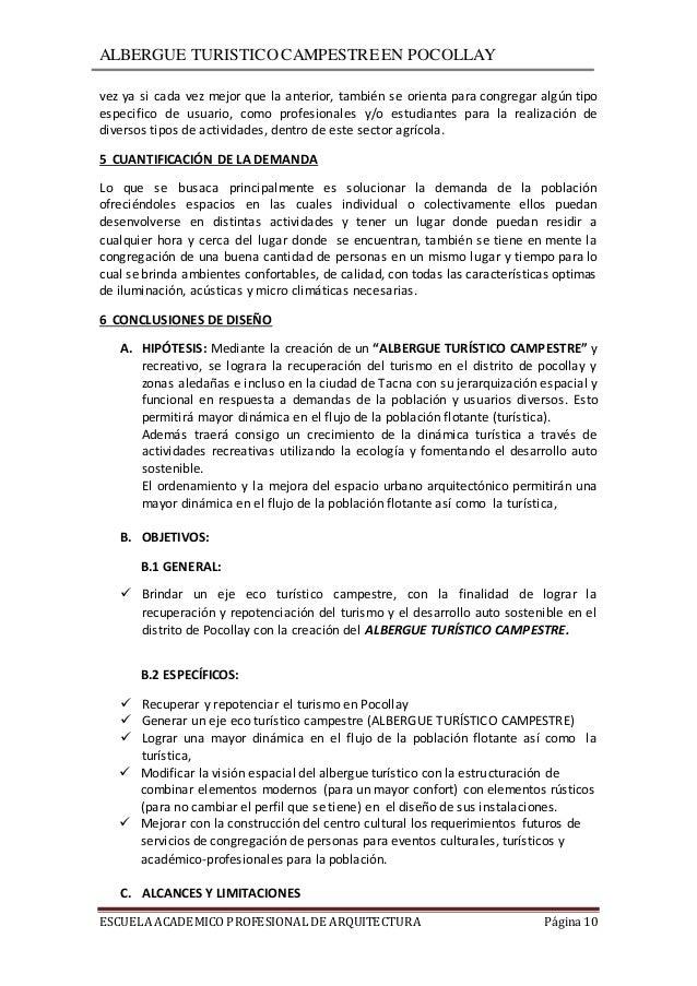 Plan de tesis albergue turistico for Tesis de arquitectura ejemplos