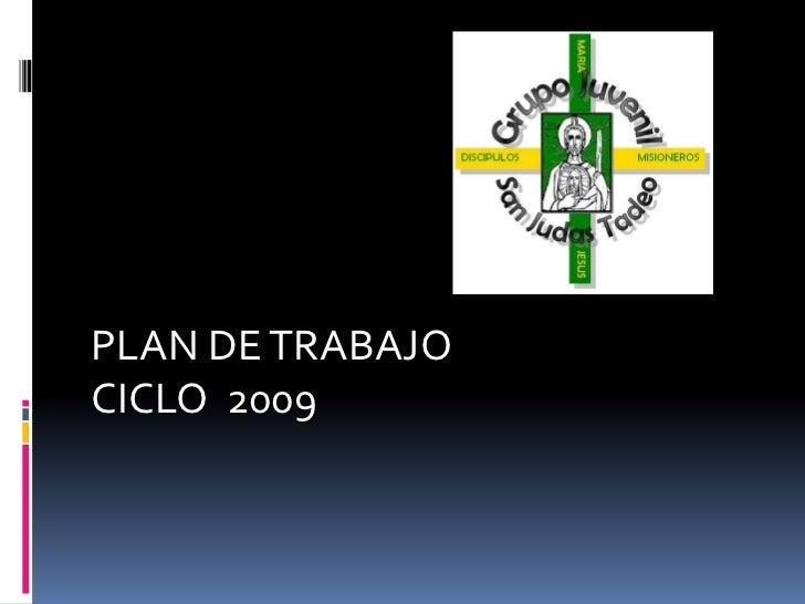 PLAN DE TRABAJO CICLO 2009