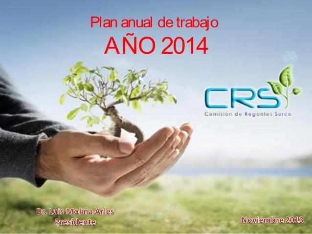 Plan anual de trabajo  AÑO 2014