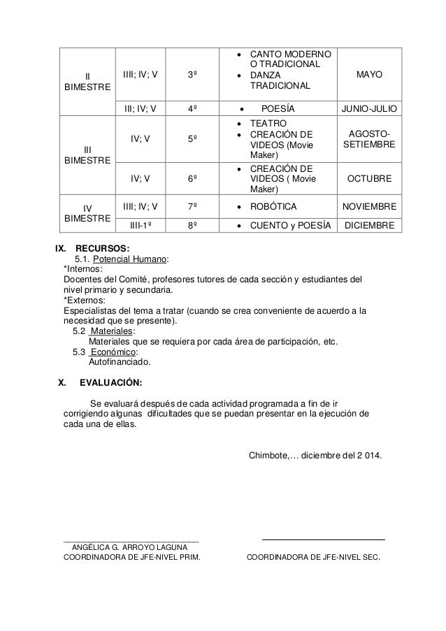  IIII; IV; V  3º  III; IV; V  II BIMESTRE  4º       CANTO MODERNO O TRADICIONAL DANZA TRADICIONAL POESÍA TEATRO CREAC...