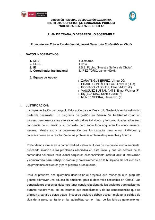 DIRECCIÓN REGIONAL DE EDUCACIÓN CAJAMARCA                       INSTITUTO SUPERIOR DE EDUCACIÓN PÚBLICO                   ...