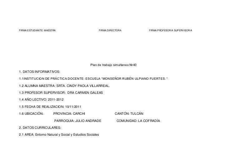 FIRMA ESTUDIANTE MAESTRA                             FIRMA DIRECTORA             FIRMA PROFESOR/A SUPERVISOR/A            ...