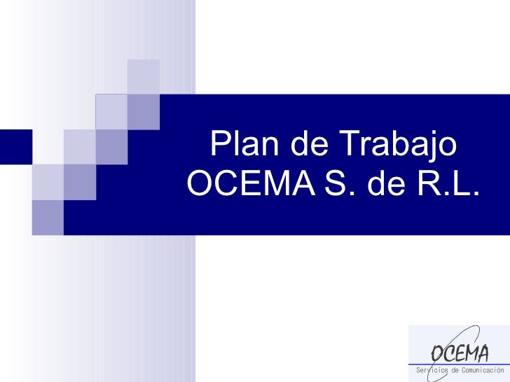 Plan de Trabajo OCEMA S. de R.L.
