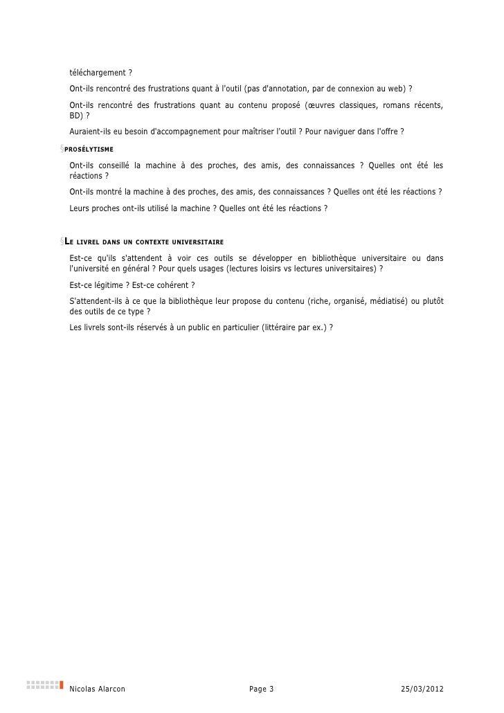 Document préparatoire à l'évaluation du projet Livrel à la Bibliothèque universitaire d'Angers Slide 3