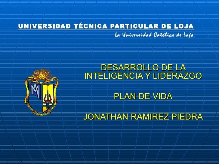 UNIVERSIDAD TÉCNICA PARTICULAR DE LOJA                     La Universidad Católica de Loja                       DESARROLL...