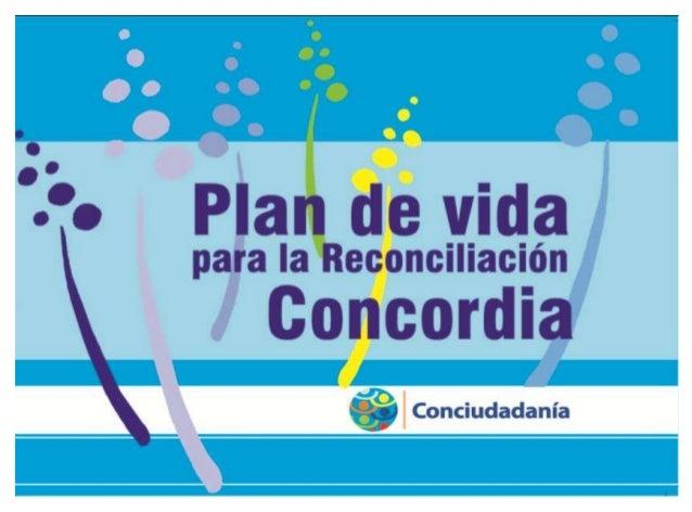 Plan de Vida para la Reconciliación Municipio de Concordia Concordia (Antioquia - Colombia) Diciembre de 2012  Publicación...