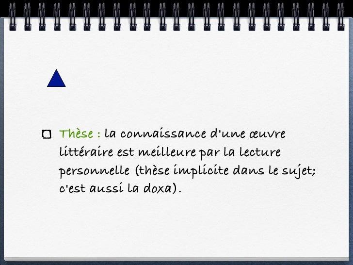 Dissertation Critique Plan Dialectique