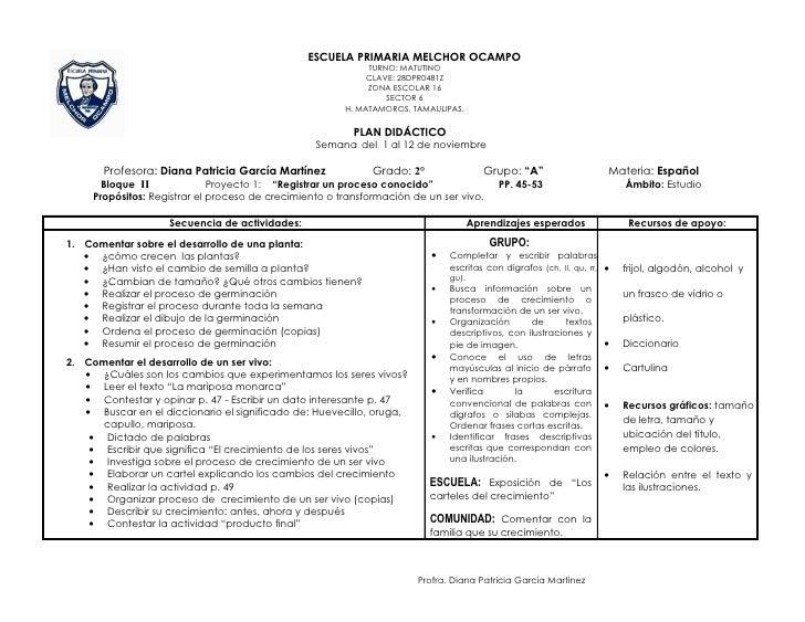 ESCUELA PRIMARIA MELCHOR OCAMPO                                                             TURNO: MATUTINO               ...