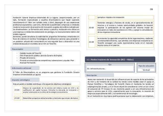 28 Fundación Canaria Empresa-Universidad de La Laguna, proporcionando, por un lado, formación especializada a aquellos din...