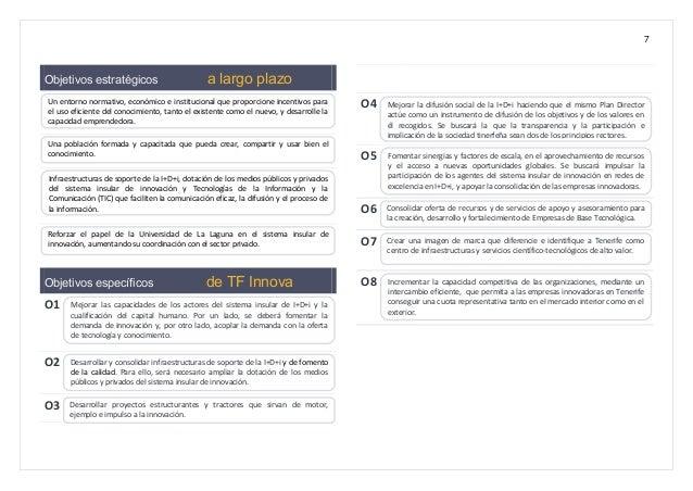 7 Objetivos estratégicos a largo plazo Objetivos específicos de TF Innova O1 O2 O3 O4 O5 O6 O7 O8 Mejorar las capacidades ...
