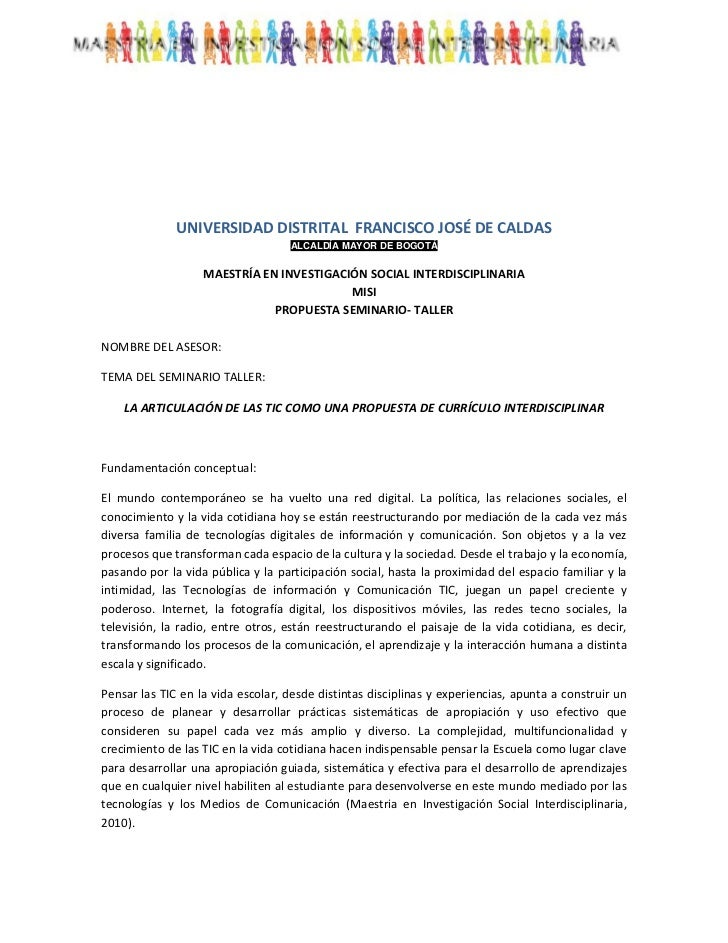 <br />UNIVERSIDAD DISTRITAL  FRANCISCO JOSÉ DE CALDAS<br />ALCALDÍA MAYOR DE BOGOTÁ<br />MAESTRÍA EN INVESTIGACIÓN SOCIA...