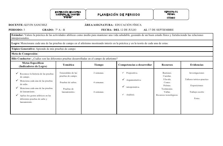 Planeación de 3er periodo   año 2010 (bachillerato).