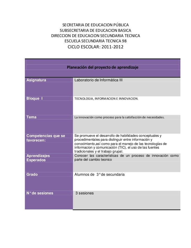 SECRETARIA DE EDUCACION PÚBLICA                   SUBSECRETARIA DE EDUCACION BASICA               DIRECCION DE EDUCACION S...