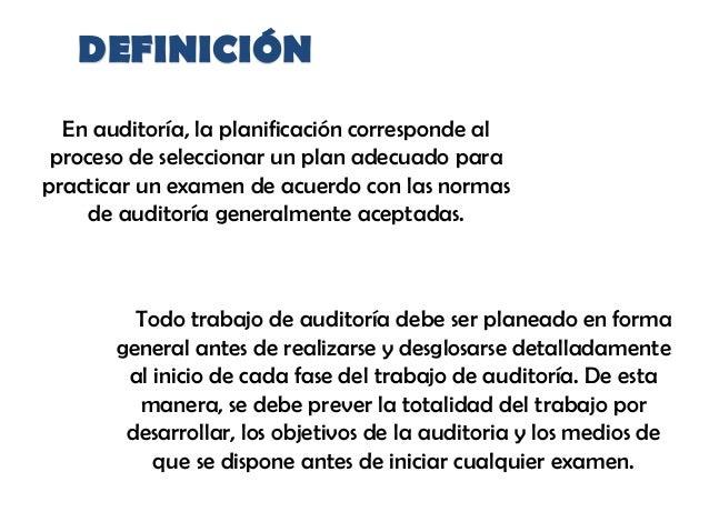 Planeación de una auditoría Slide 2