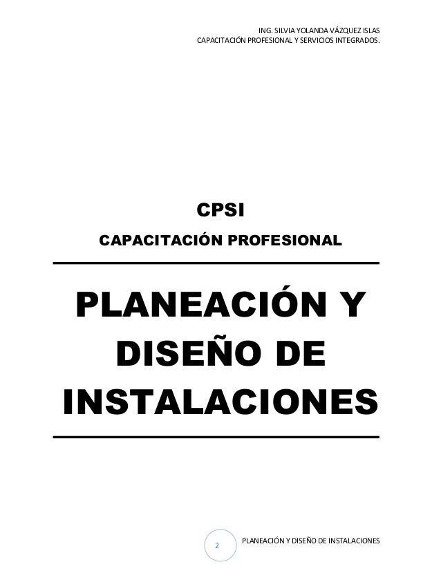 planeaci n y dise o de instalaciones 2016 On planeacion y diseño de instalaciones pdf