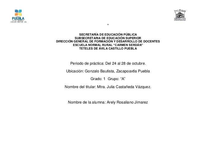 +             SECRETARÍA DE EDUCACIÓN PÚBLICA          SUBSECRETARIA DE EDUCACIÓN SUPERIORDIRECCIÓN GENERAL DE FORMACIÓN Y...